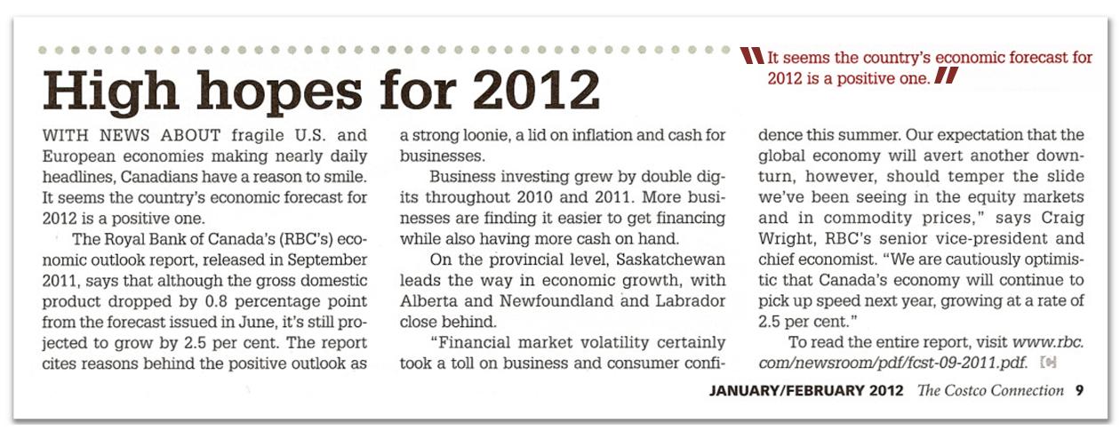 High Hopes for 2012