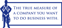 The true measure of a company you want to do business with.